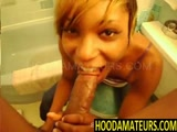 Sweet Rashae Giving Blowjob in Bathroom